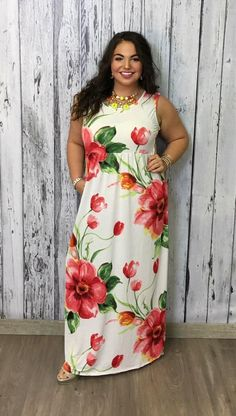 Eye Catching Sleeveless Floral Maxi Dress