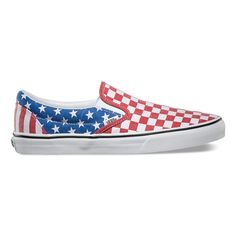 be12c4d92b Vans Van Doren Slip-On - Stars Stripes Checker
