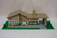 Mid Century House Model Built of Lego! Lego Design, Lego Mansion, Casa Lego, Lego Furniture, Minecraft Furniture, Lego Minecraft, Lego Lego, Lego Batman, Lego Moc