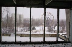 Chernobyl - The ghost town is still relatively untouched from the day of the disaster. An abandoned amusement park, empty schoolrooms, and ruined houses are an eerie and sobering reminder and a memorial to the disaster's victims. The area will be unsfafe to inhabit for another 20,000 years.