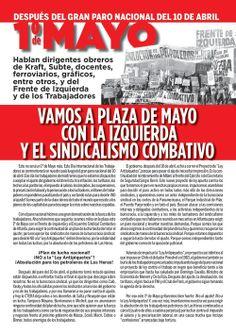 1º de Mayo con la izquierda y el sindicalismo combativo (1).
