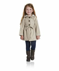 Children's Fashion. Mothercare Belted Trench Coat. This practical and stylish coat will keep you warm and dry in the cooler weather.  #ChildrensFashion #GirlsFashion #Kids #Girls #Cute