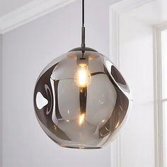Alexis DimpIed Glass 1 Light Pendant Ceiling Fitting | Dunelm Ceiling Lights Uk, Pendant Lighting, Light Pendant, Light Fittings, Antique Brass, Modern Furniture, Bubbles, Bulb, Antiques