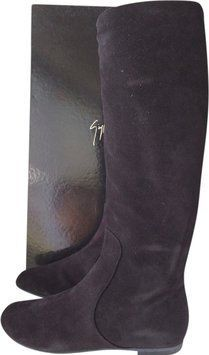 a6da1a449b90 These Giuseppe Zanotti Black Suede Ballet Flat Pull On Boots Booties Size  EU 37 (Approx. US Regular (M