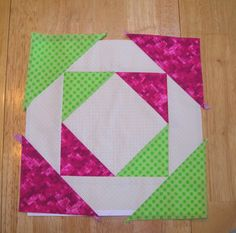 Single block for new quilt.... can't see the design until there are four blocks together.