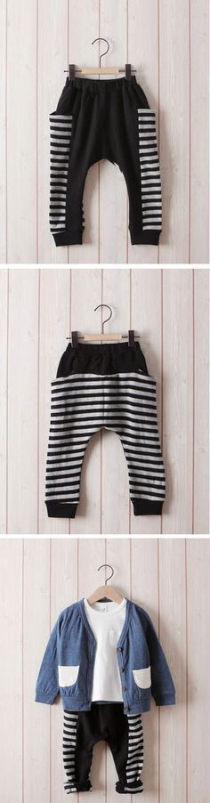 Breton Slouchy Sweatpants for boys and girls 2-7. Cool kids fashion at Color Me WHIMSY this fall season.