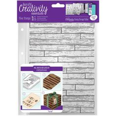 DoCrafts WOODEN BOARD BACKGROUND Creativity Essentials A5 Clear Stamps 907132 zoom image