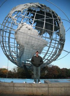 New York 64-65 Worlds Fair Unisphere, Flushing Meadows, Queens.  I played in my HS band here!!!