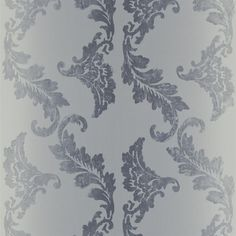 porden black and white wallpaper Designers Guild