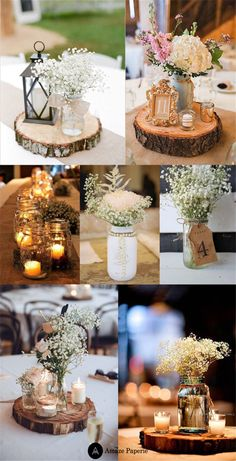 Country table centerpieces amazing rustic wedding decor ideas in decorations formidable style decoration vintage reception centerpiece . Wooden Centerpieces, Mason Jar Centerpieces, Rustic Wedding Centerpieces, Diy Wedding Decorations, Floral Centerpieces, Country Table Centerpieces, Rustic Weddings, Wedding Rustic, Centerpiece Ideas