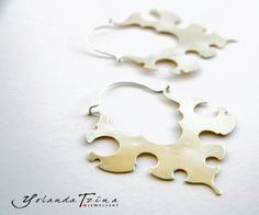 A Tribal pair of Earrings made of Brass and by YolandaTzina