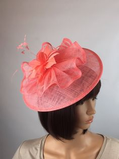 Blue Fascinator, Headpiece, Pink Wedding Hats, Millinery Hats, Stylish Hats, Cocktail Hat, Church Hats, Thing 1, Derby Hats