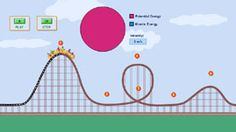 Potential & Kinetic Energy -- Roller Coaster...very cool...you have to sign in to download it, but it is free.