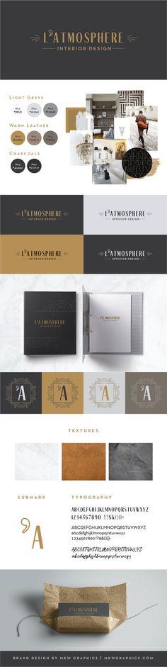 Interior Designer Branding by brand designer MKW Graphics   #logo #branddesign #branddesigns #branding #upscale #artdeco #elegant #neutrals #refinedbranding #upscalebranding