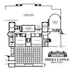 Oheka Castle main floor - floor plan