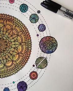 Tattoo Ideas Mandalas Doodle Art 28 Ideas For 2019 Dibujos Zentangle Art, Zentangle Drawings, Doodle Drawings, Doodle Art, Zentangles, Mandala Doodle, Mandala Drawing, Doodle Patterns, Zentangle Patterns