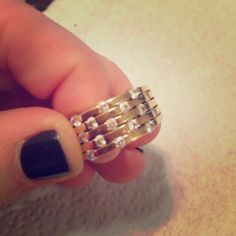 Size 7 gold and rhinestone ring This ring is gorgeous and has been used but is in great condition. Size 7 and needs someone to wear it! Jewelry Rings