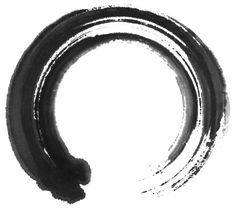 """Enso, a Japanese word meaning circle. When drawn with an opening, it can suggest that imperfection is an inherent part of existence. The enso is also strongly associated with zen, symbolizing absolute enlightenment, strength, elegance, the universe, and the void. An """"expression of the moment"""". It can also symbolize the Japanese aesthetic itself: wabi (transient and stark beauty), sabi (the beauty of natural patina and aging), and yūgen (profound grace and subtlety)."""