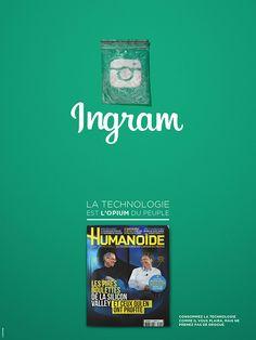 aetherconcept-poster-humanoide-4 #instagram voit son logo détourné pour illustrer, de façon décalée le shoote numérique des internautes