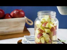 Apple cider vinegar is an all-natural product that has nearly countless uses, whether you're drinking it for health benefits or using it to clean your house. If you're using a lot of raw apple cider vinegar, buying it can quickly become... Make Apple Cider Vinegar, Thing 1, Make It Yourself, Canning, Vegetables, Bing Video, How To Make, Health Benefits, Drinking