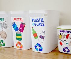 Looking for an educational and fun Earth Day craft? Round up the kids and let them decorate this DIY recycling center with you!