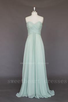 Chic Simple Chiffon Long prom dress/graduation dresses on Wanelo