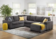 Comfortable Couches Living Room Furniture fortable Sectionals sofa for Elegant Living Elegant Living Room, Cozy Living Rooms, Living Room Grey, Living Room Decor, Living Area, Living Room Color Schemes, Living Room Designs, Colour Schemes, U Couch