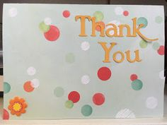 Colorful, Creative Cards: thank you