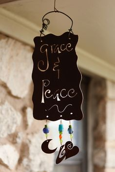 Grace and Peace Outdoor Metal Art from Prairie Hive Magazine