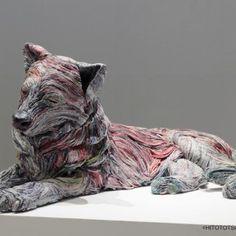 かみのこもりうた〜新聞紙からうまれるいのち 2013 銀座三越8階ギャラリー,Chie Hitotsuyama
