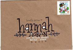 pushing the envelopes: krafty hannah