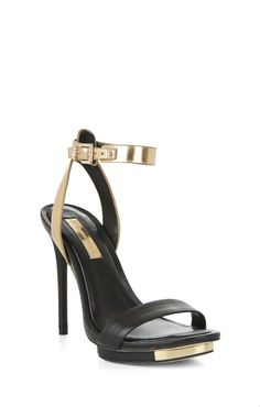 finite high-heel ankle-strap sandal