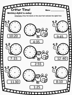 Telling Time Craftivity and Resources - Teach Two Reach 2nd Grade Happenings