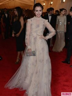 Lily Collins in Valentino- Met Gala 2012
