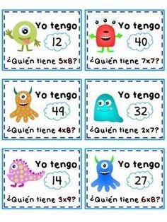 TABLAS DE MULTIPLICAR ® Juegos De Multiplicación Multiplication, Math, Ideas Para, My Books, Diy And Crafts, Classroom, Teaching, Education, School