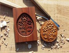Dekorace hnědá vajičko- forma 6 x 8 cm / od tatulda | Fler.cz Tray, Easter, Easter Activities, Trays, Board