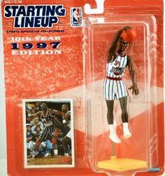 1997 Hakeem Olajuwon Houston Rockets Starting Lineup NBA Action Figure Kenner NIB