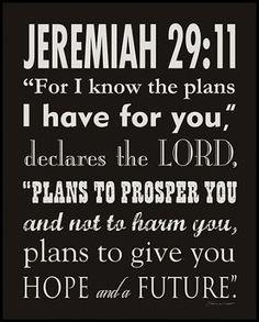Jeremiah 29:11-13  9/3/13-9/6/13