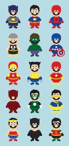 Super Mario à toutes les sauces super heros