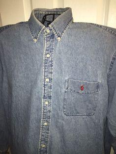 Ralph Lauren Polo Xl Denim Big Shirt  #PoloRalphLauren #ButtonFront
