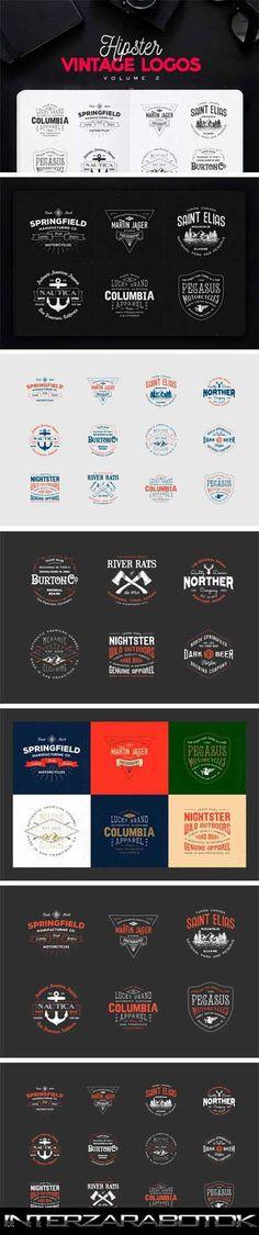 Винтажные Логотипы - Hipster Vintage Logo Pack 2 CM 311966