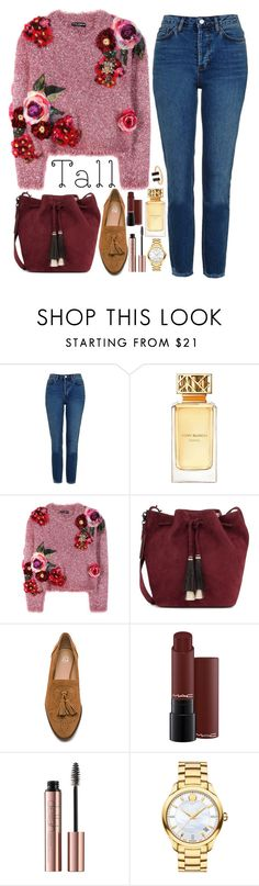 """""""❤"""" by polinachaban ❤ liked on Polyvore featuring Topshop, Tory Burch, Dolce&Gabbana, Loeffler Randall, Joe's Jeans, Movado and powerlook"""