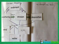 The Science Penguin: Weathering, Erosion, and Deposition Notebook Photos 7th Grade Science, Middle School Science, Elementary Science, Science Classroom, Teaching Science, Science Education, Classroom Ideas, Student Teaching, Teaching Ideas