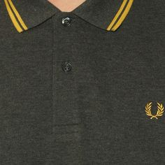 c794556f1 Colour Detail - Fred Perry Men's Twin Tipped Polo Shirt in Graphite Marl Fred  Perry Clothing