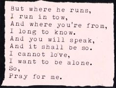 Pray For Me- Laura Marling
