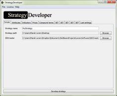 StrategyDeveloper Details tab