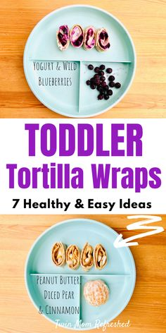 Tortilla Wraps Toddler Food Idea - Easy tortilla wrap food ideas for toddlers and kids. These tortilla wrap recipes are quick and healthy. A good food for toddler and kid snacks, breakfast meals, school lunches, daycare lunches, or at home! Healthy Tortilla Wraps, Easy Tortilla Recipe, Tortilla Recipes, Veggie Wraps, Healthy Toddler Meals, Toddler Lunches, Kids Meals, Toddler Food, Healthy Lunches
