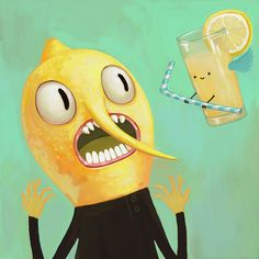 Adventure Time - Earl of Lemongrab - 8x8 - Digital Art Print