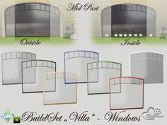 "sssvitlans: "" Created By BuffSumm Build-A-Villa Windows and Doors Created for: The Sims 4 Go ahead and build them a luxury Villa In this part you get 25 new Objects: - 15 new Windows - 8 Outer Frames..."