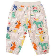 Buy John Lewis Baby Horse Print Trousers, Cream/Multi Online at johnlewis.com